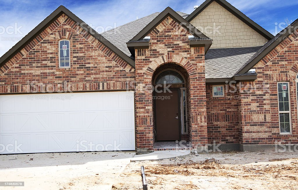 New homes under construction in urban USA. royalty-free stock photo