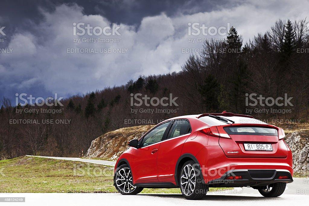New Honda Civic front stock photo