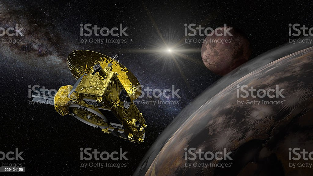 New Horizons space probe - Pluto flyby stock photo