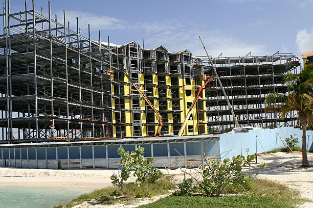 New hotel on tropical island # 1 stock photo
