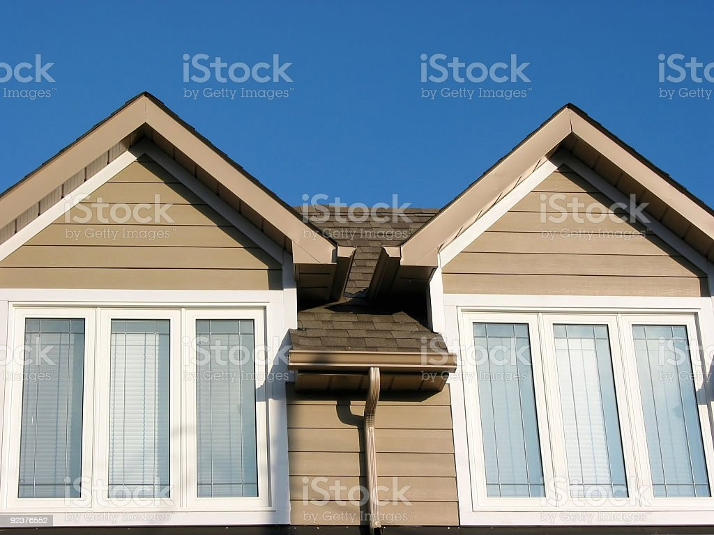 New house detail royalty-free stock photo