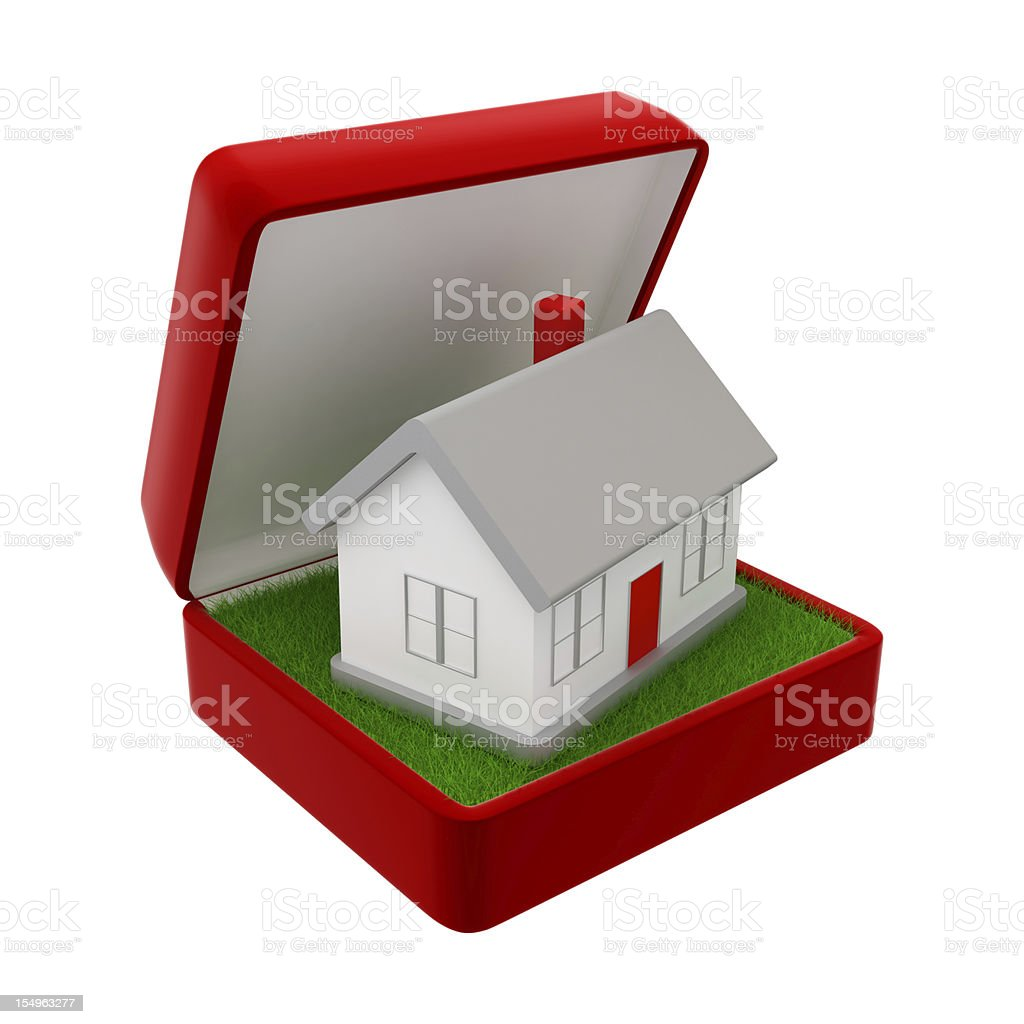 New House in the Jewel royalty-free stock photo