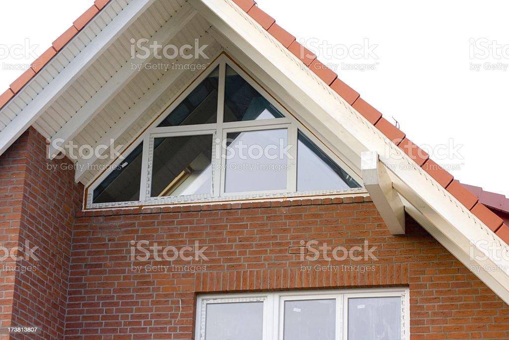 New house, new windows, white background stock photo