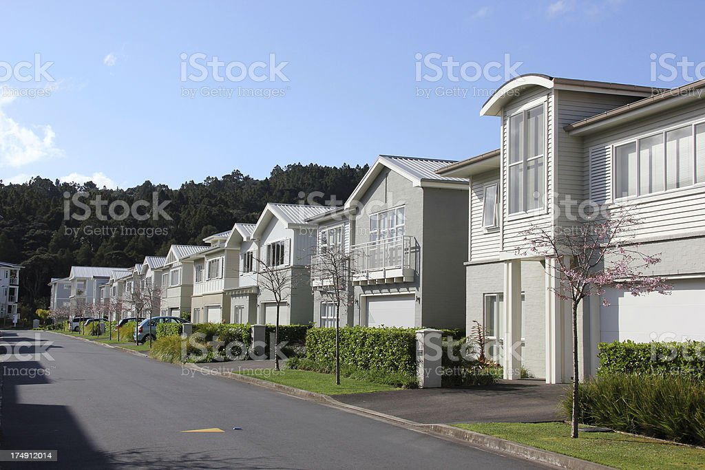 New houses and apartments in Kenstington Park, Auckland