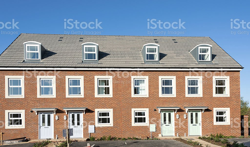 New houses for sale stock photo