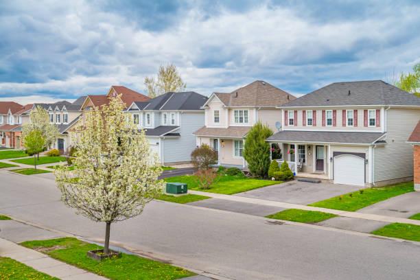 New houses in Brantford Ontario Canada stock photo