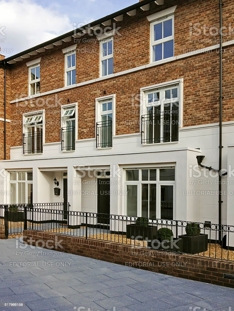 New Houses Knutsford stock photo