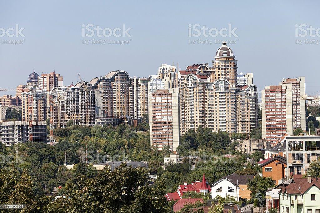 New houses of Kiev royalty-free stock photo