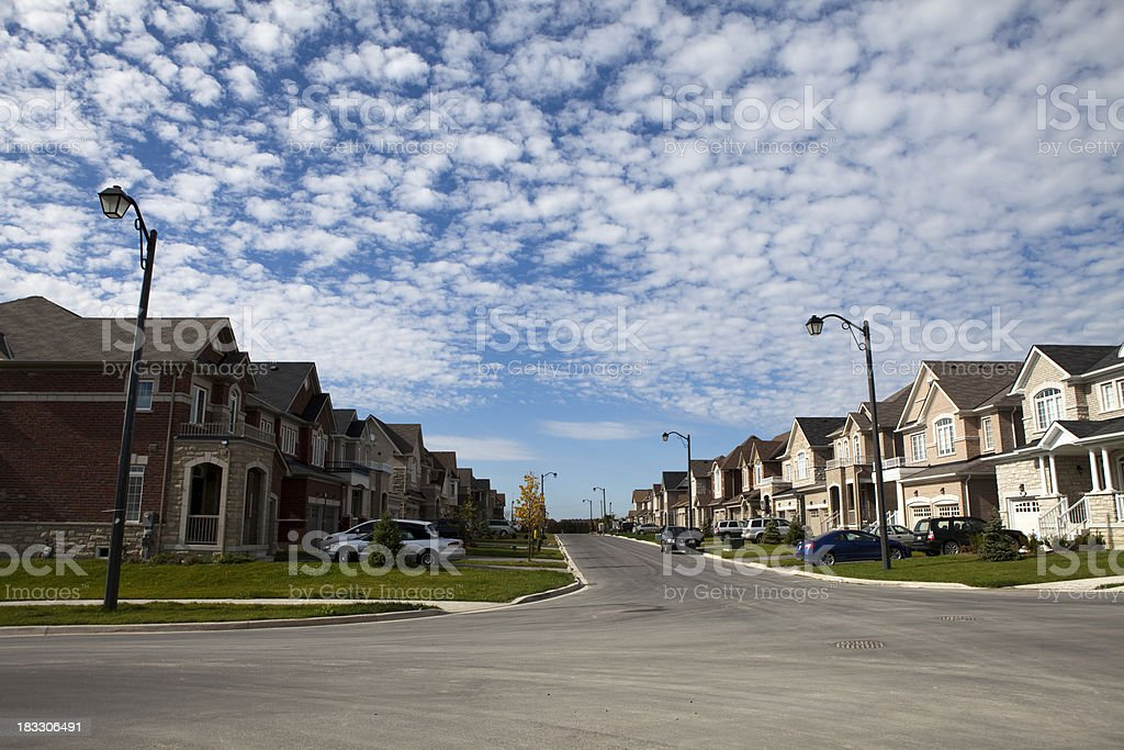 New Houses On Suburb royalty-free stock photo