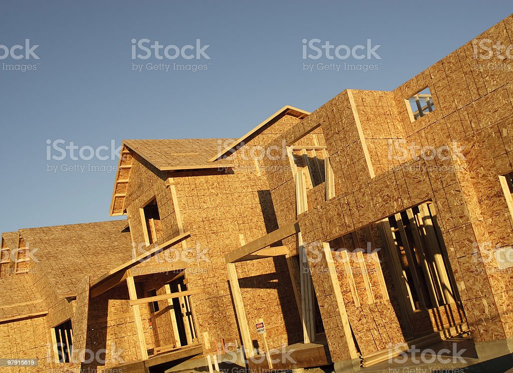 New houses under construction royalty-free stock photo