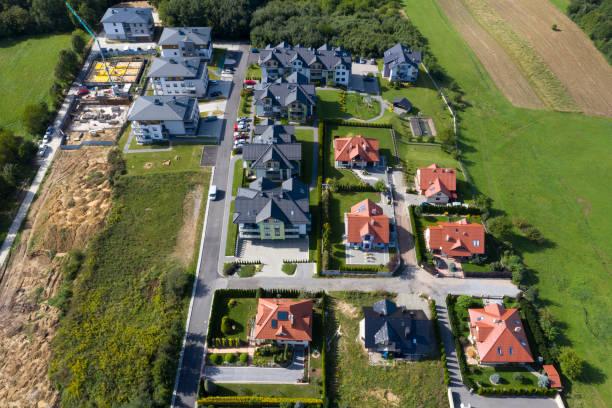 Neue Wohnbebauung, Luftansicht – Foto