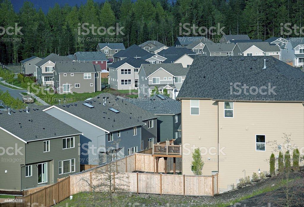 New housing development in suburban western Washington state royalty-free stock photo
