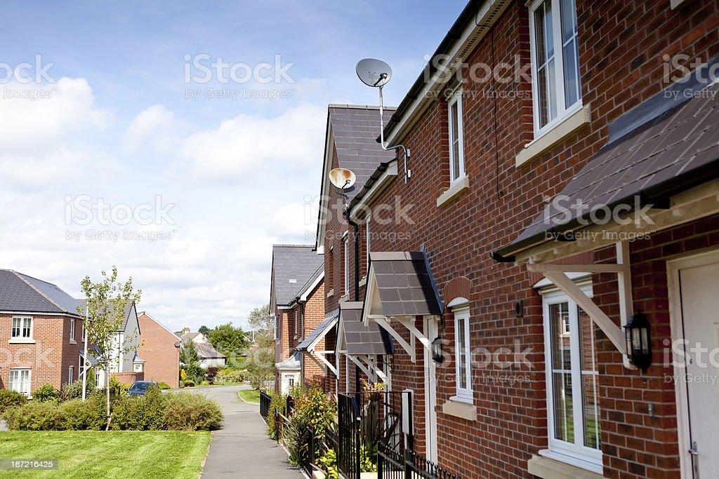 New housing development royalty-free stock photo