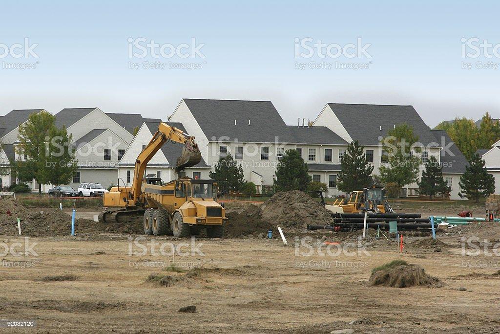 New housing development under construction royalty-free stock photo