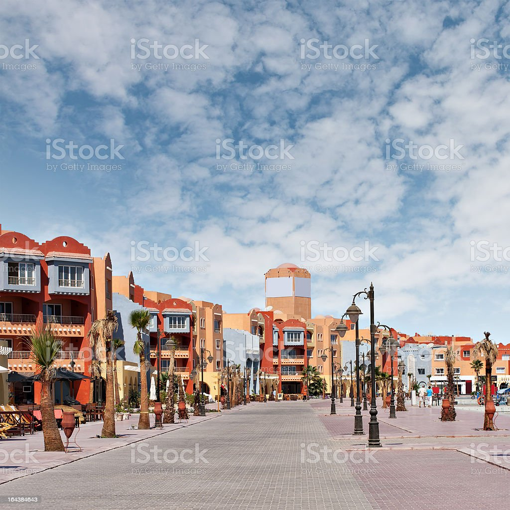 New Hurghada marina royalty-free stock photo