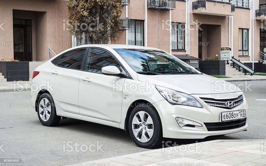 New Hyundai Elantra (Avante). stock photo