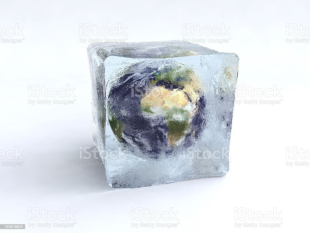 New Ice age. stock photo