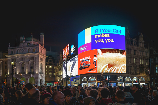 istock New iconic electronic ultra-high definition curved billboards in Piccadilly Circus, London (UK). 931486614