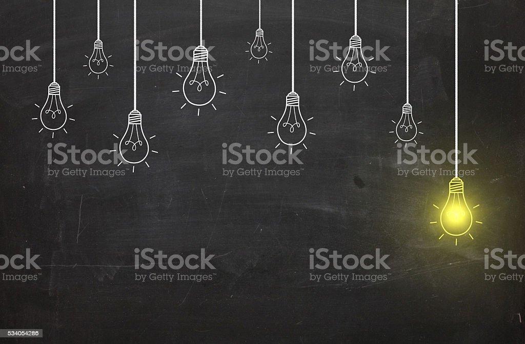 New idea bulb concept stock photo