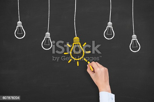 645716366 istock photo New Idea Concept on Chalkboard Background 607878204