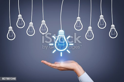 istock New Idea Concept Over Human Hand on Visual Screen 607881046