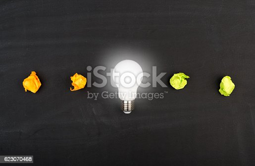 istock New idea concept with crumpled office paper 623070468