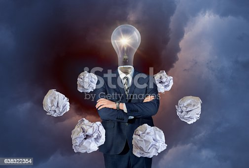 istock New idea concept with crumpled office paper 638322354