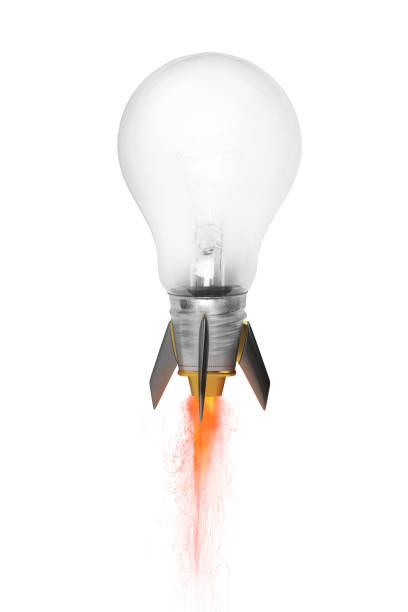 New idea fly fast as a rocket - foto stock