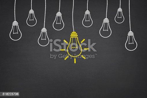 istock New Idea Light Bulb on Blackboard 518223706