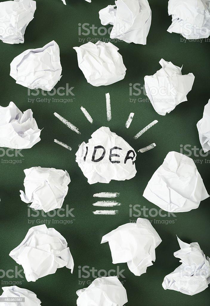 new idea light bulb royalty-free stock photo