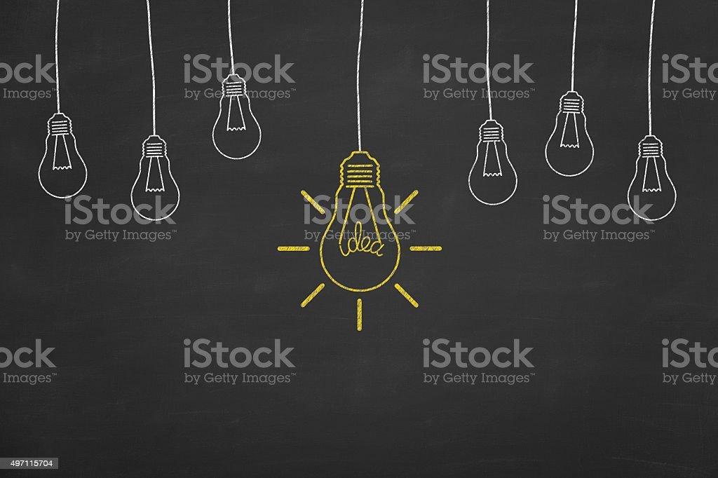 Nova idéia de quadro-negro - foto de acervo