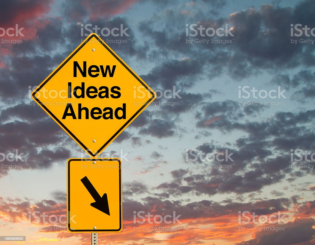 New Ideas Ahead stock photo