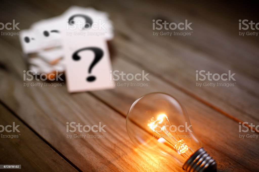New ideas solve the question mark stock photo