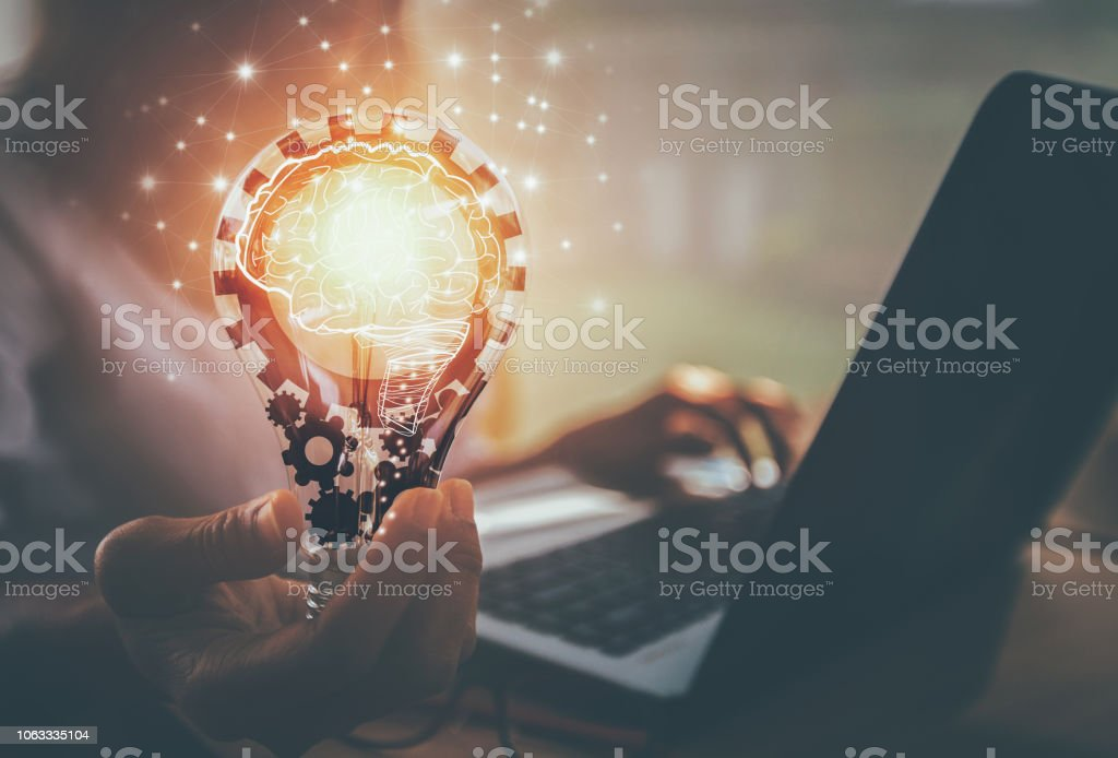 new ideas with innovation and creativity - Стоковые фото Абстрактный роялти-фри