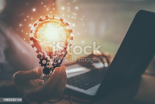 istock new ideas with innovation and creativity 1063335104