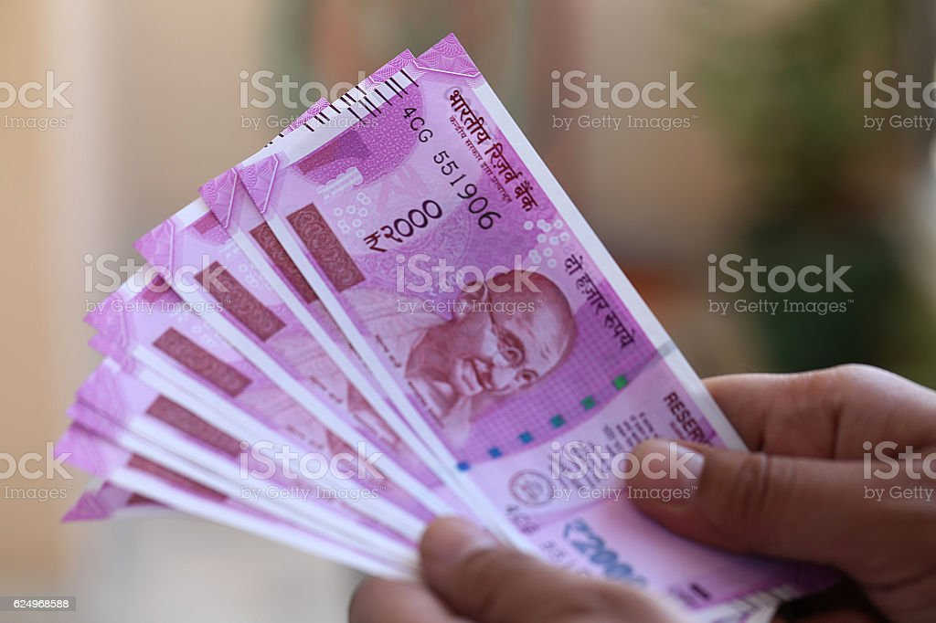 New indian 2000 Rs Currency Note – Foto