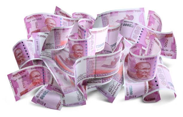 New Indian currency note, Rupees 2000 stock photo