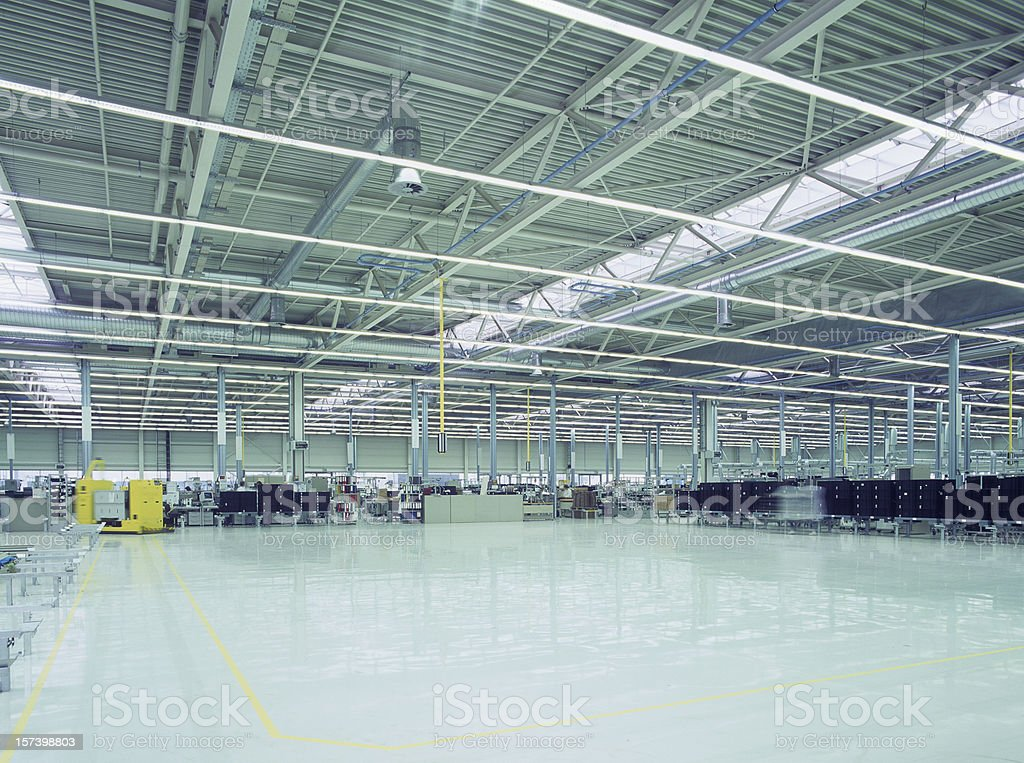 New industrial hall and clean floor royalty-free stock photo