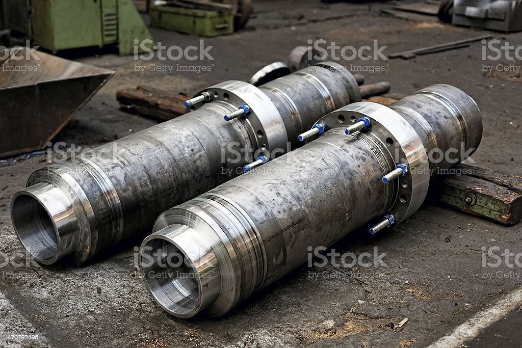 New industrial pipes stock photo
