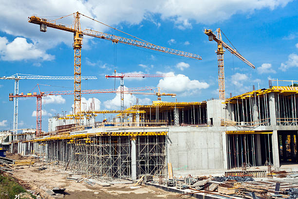new industry construction stock photo