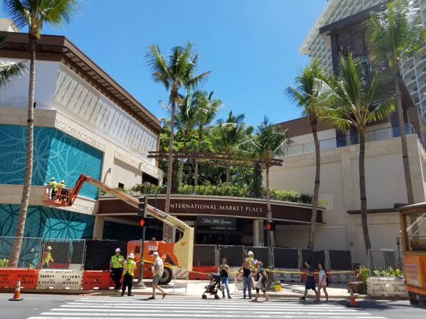 New International Market Place Under Construction stock photo