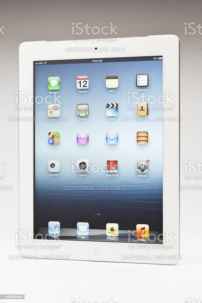 New ipad main screen royalty-free stock photo