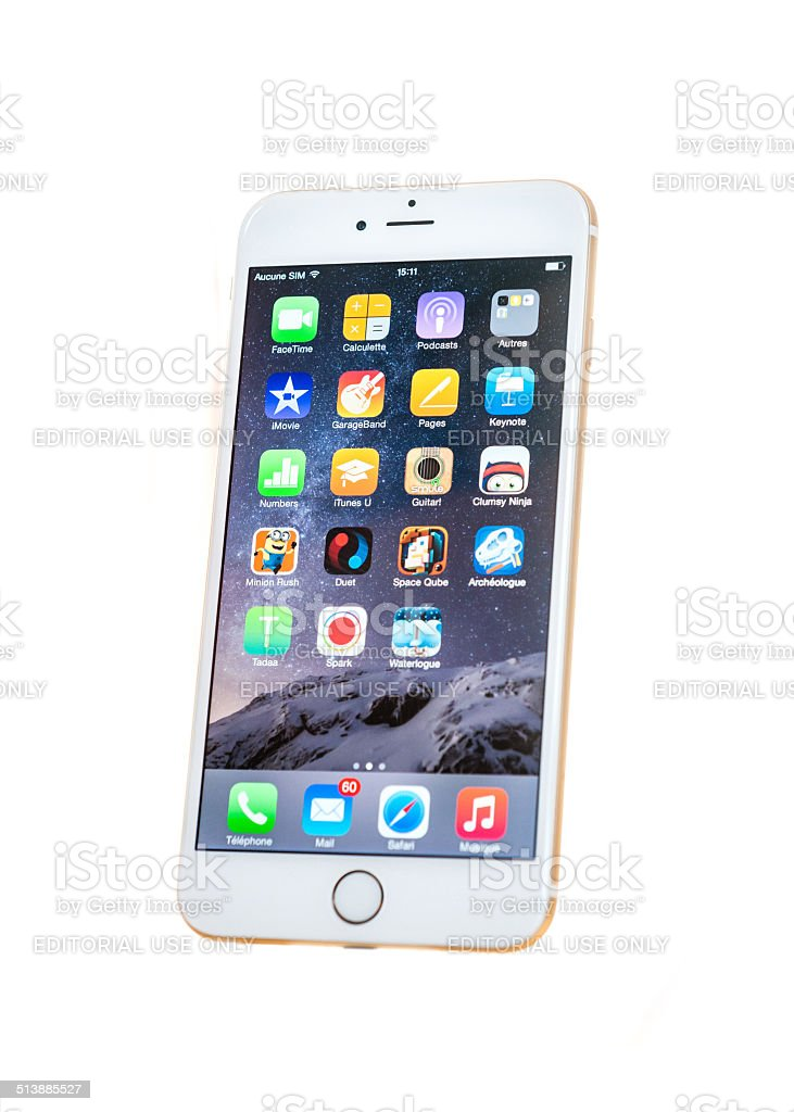 New iPhone 6s Plus isolated stock photo