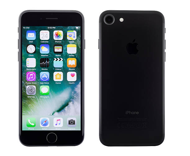 new iphone 7 front and back view - iphone zdjęcia i obrazy z banku zdjęć
