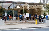 istock New Iphone release at Apple Store in Austin Texas creates long lines at the Domain 1285950347