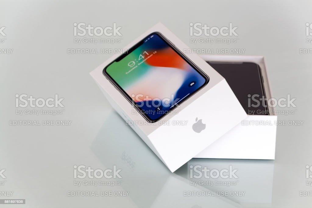 New iPhone X stock photo