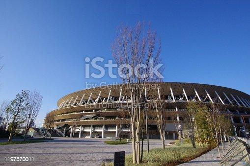 1188904934 istock photo New Japan National Stadium in Tokyo 1197570011