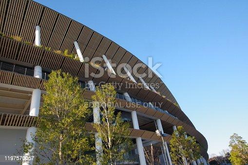 1188904934 istock photo New Japan National Stadium in Tokyo 1197570057
