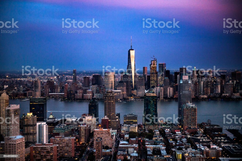 New Jersey aerial view stock photo