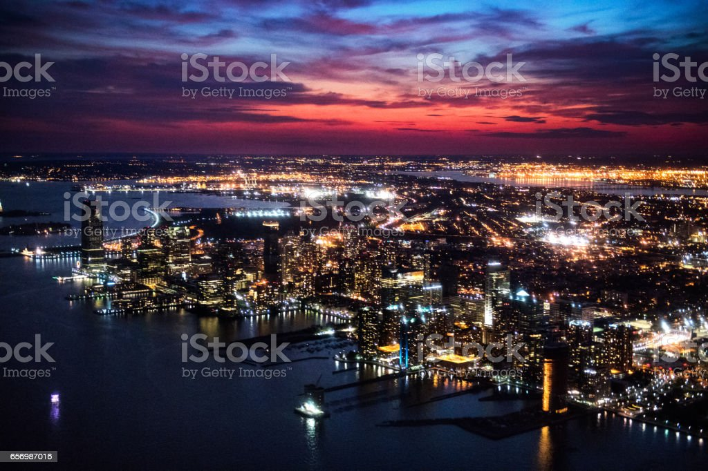 New Jersey at night stock photo